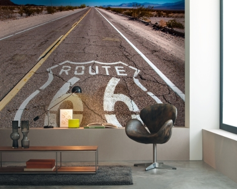 Mural Profundidad Carretera