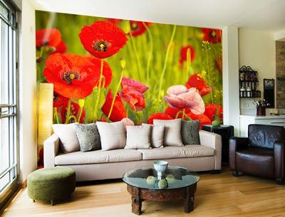 Mural Floral de Amapolas